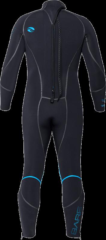 NEW 3MM BARE Mens Elastek Full Stretch SCUBA Diving Wetsuit Size XL Blue