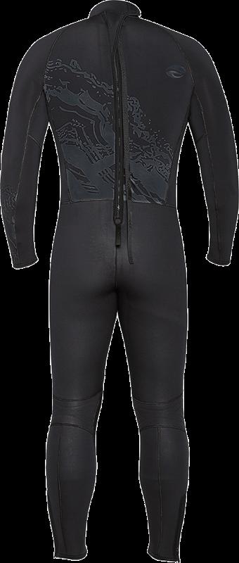 Velocity Ultra 5mm Full Wetsuit - Black Back