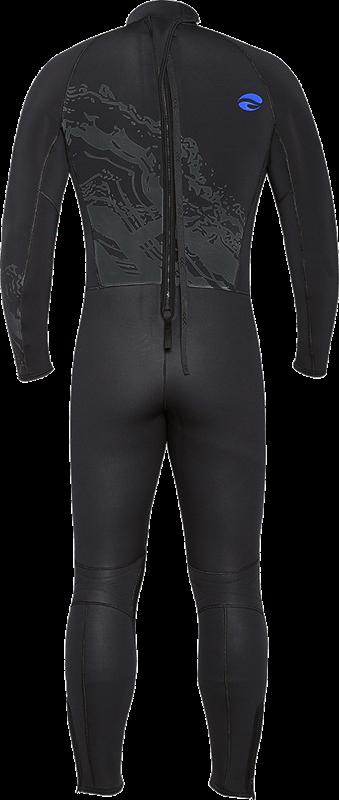 Velocity Ultra 5mm Full Wetsuit - Blue Back