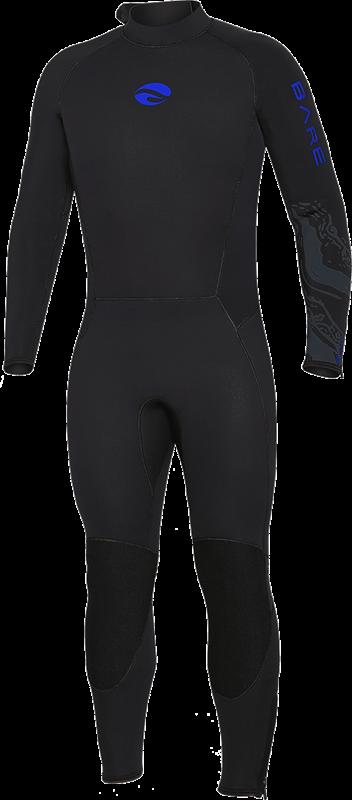 Velocity Ultra 5mm Full Wetsuit - Blue