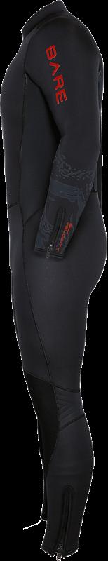 Velocity Ultra 5mm Full Wetsuit - Lava Side